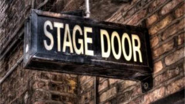 Theatre stage door sign