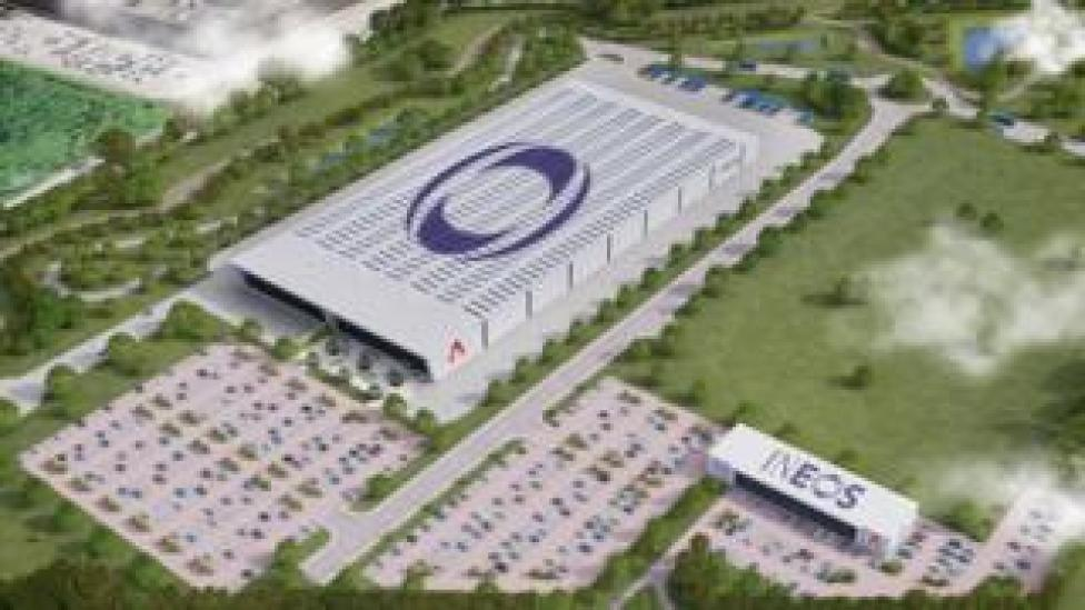 Artistic impression of future aerial view of the Ineos plant