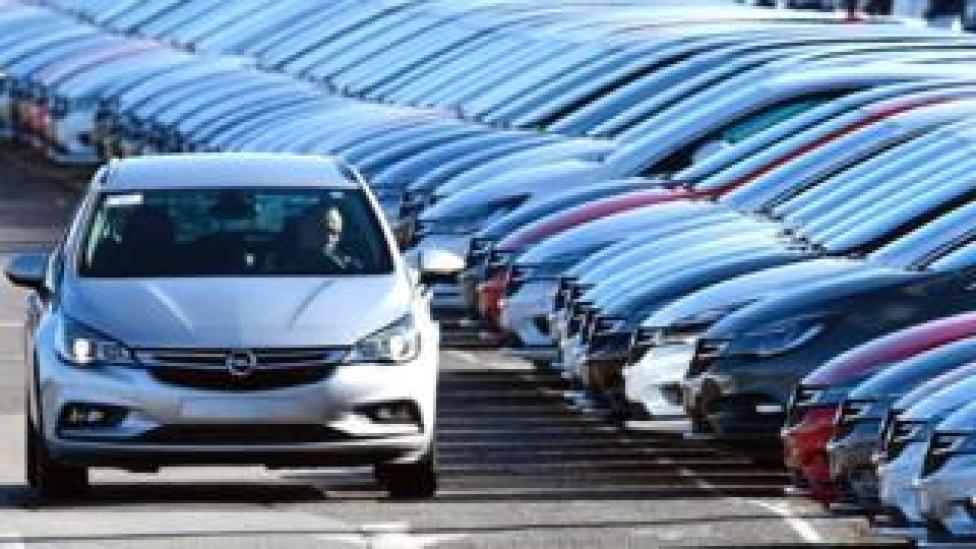 Vauxhall cars at Ellesmere Port plant