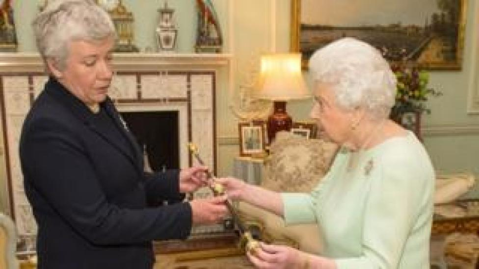 The Queen and the new Black Rod, Sarah Clarke