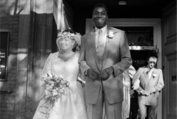 British comedians Dawn French and Lenny Henry at their wedding at St Paul's, Covent Garden, London, 21st October 1984