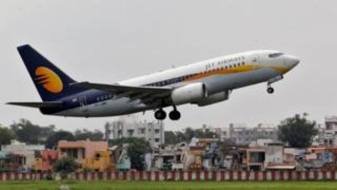A Jet Airways flight