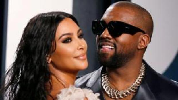 Kim Kardashian and Kanye West attend the Vanity Fair Oscar party in Beverly Hills during the 92nd Academy Awards, in Los Angeles, California, U.S., February 9, 2020