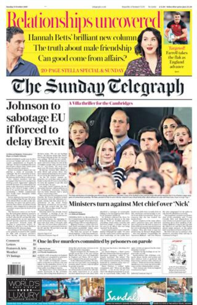 Sunday telegraph 5 october 2019
