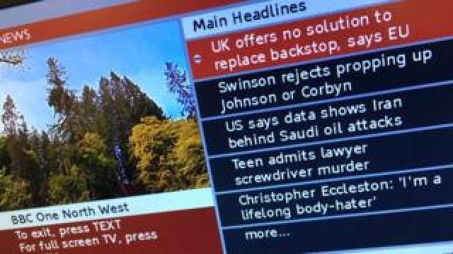 BBC red button headlines