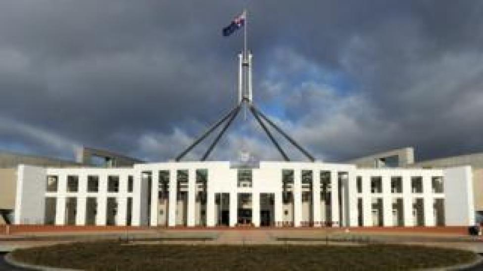 Parliament building of Australia in Canberra