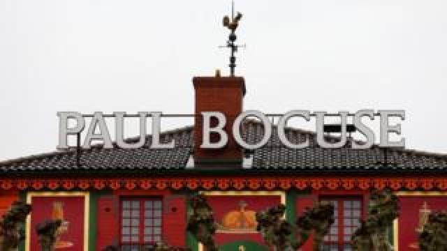 A view of L'auberge du Pont de Collonges, or simply Paul Bocuse restaurant, near Lyon in France