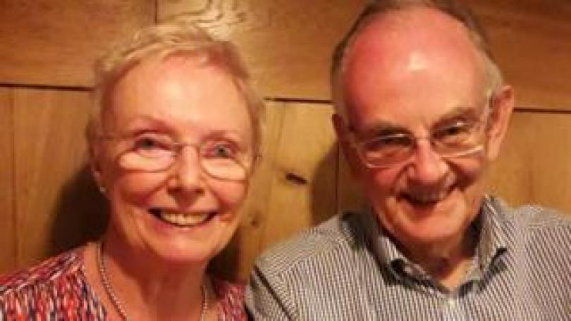 Janet Wilkie, 78, with her husband Douglas, 80