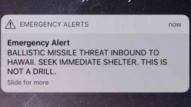 The missile-strike message Hawaiians saw on their phones was a false alarm