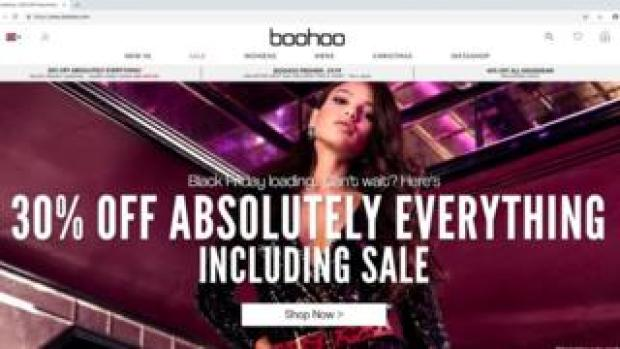 Boohoo screen grab