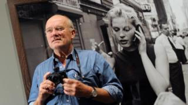 German photographer Peter Lindbergh poses during a news conference on his exhibition, titled Peter Lindbergh. On Street, in Berlin, Germany, 24 September 2010