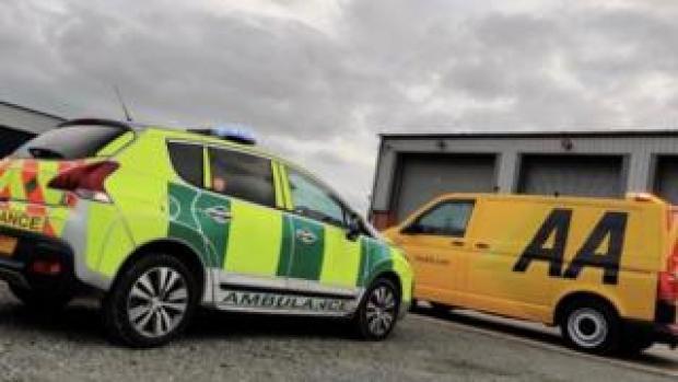 AA attending NHS vehicle