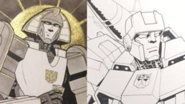 Mirage and Hound drawn by More than Meets the Eye fans Jar Of Loose Screws and Winston Chan @CWingsyun as part of the #LostLightFest
