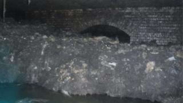 The fatberg in Sidmouth, Devon