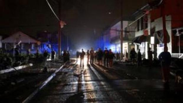 Nashville residents standing in darkness after the tornadoes