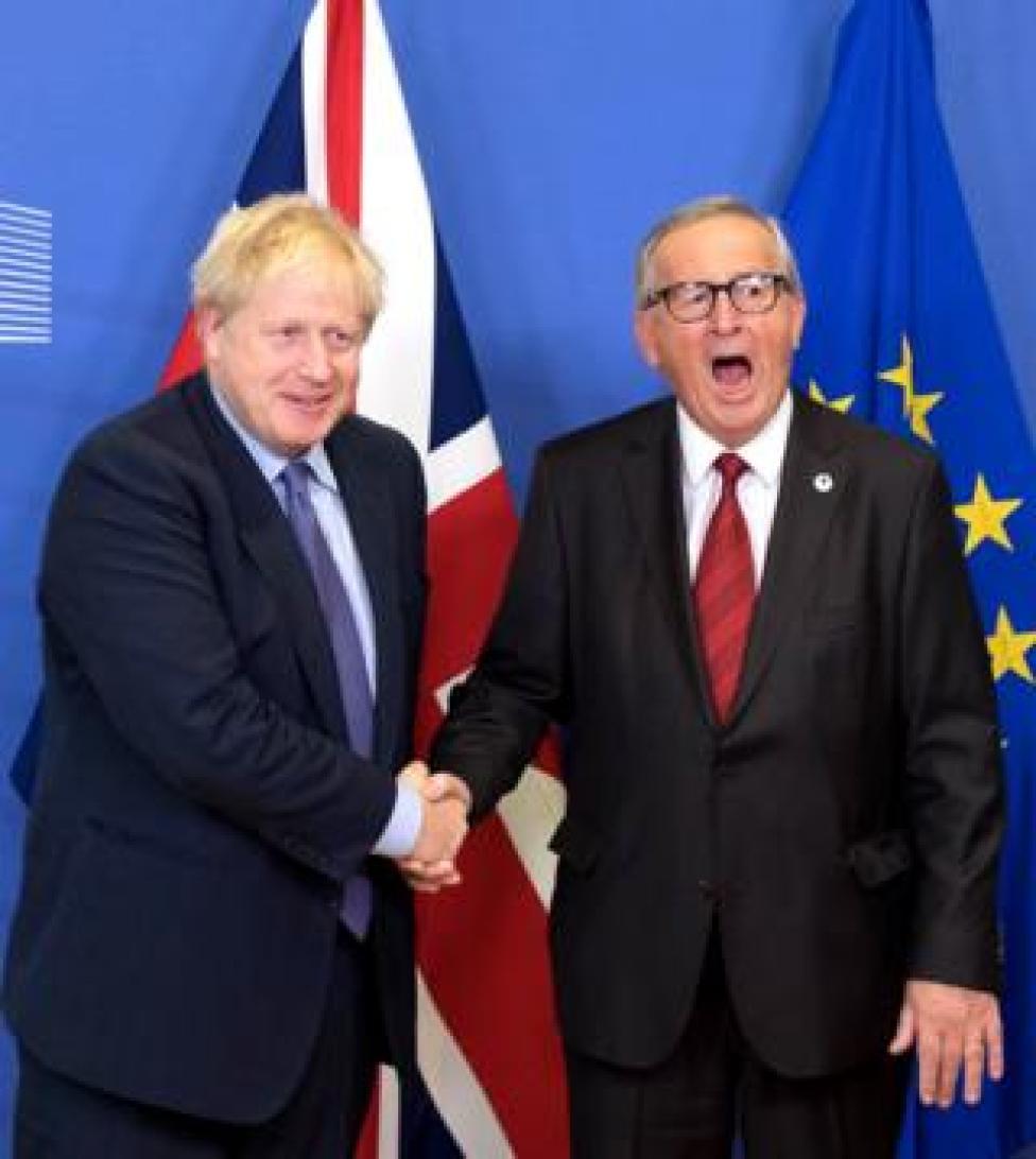 trump Boris Johnson and Jean-Claude Juncker