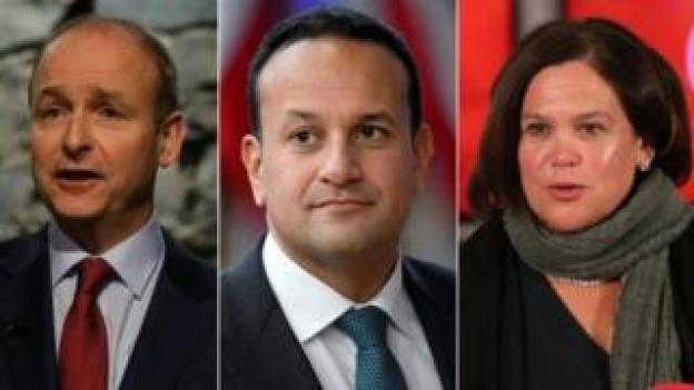 Micheál Martin, Leo Varadkar and Mary Lou McDonald