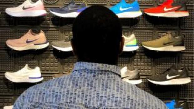 Sportswear firm Nike has seen a huge rise in online sales.