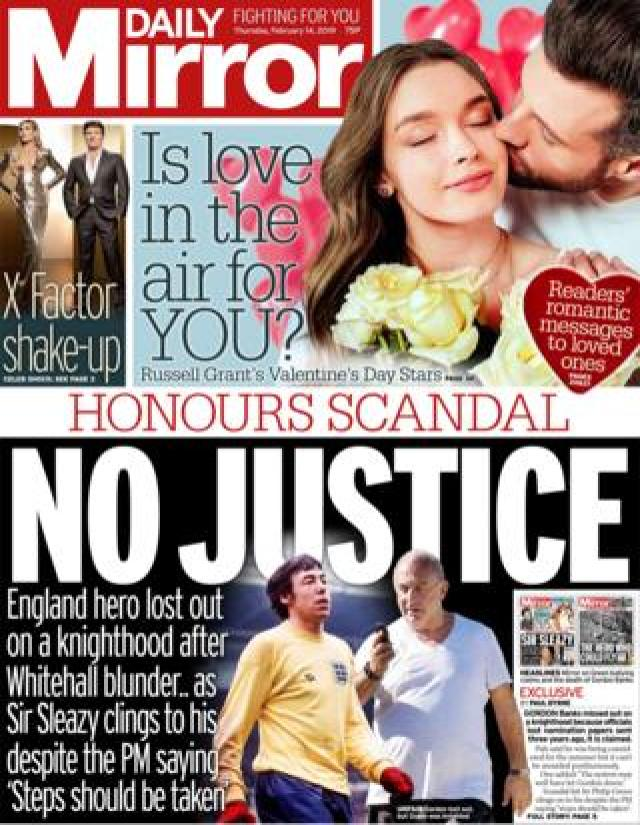 Mirror front page 14/02/19