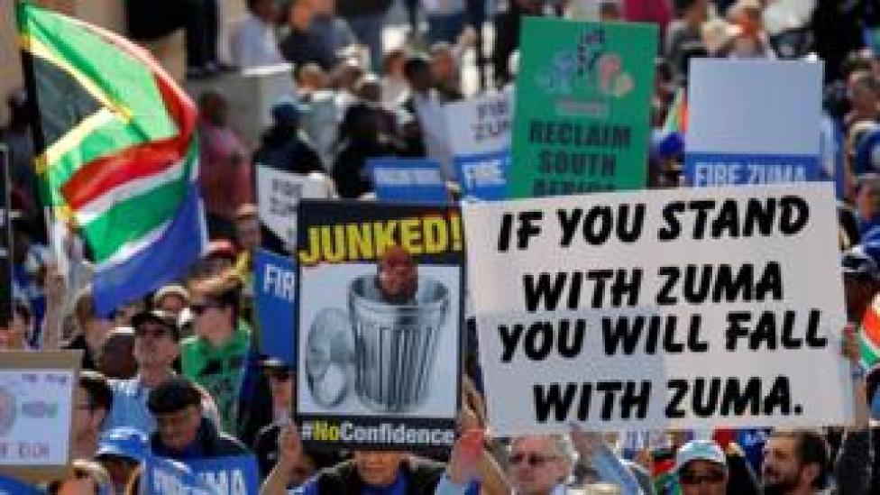 Anti-Zuma protesters