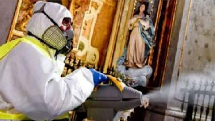 Sterilization factor in an Italian church