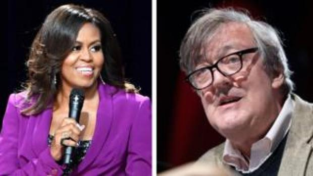 Michelle Obama and Stephen Fry