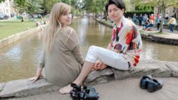 Holly Eason and her fiance Masakazu Yamamoto