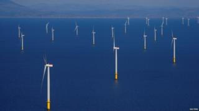 Wind farm off the Lancashire coast