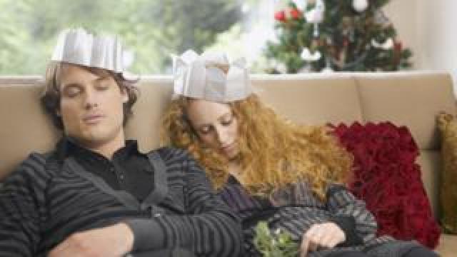 sleeping couple Christmas