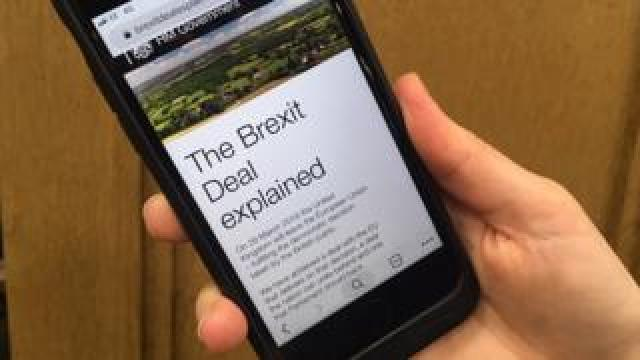 Phone with Brexit site