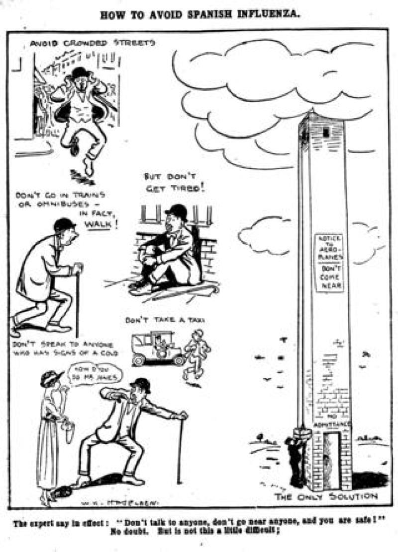 Daily Mirror cartoon, 1918