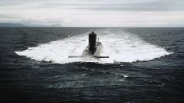 HMS Resolution, one of the retired submarines, in about 1970
