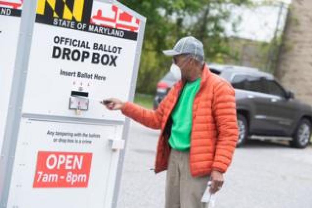 trump Man posts mail-in ballot in Maryland