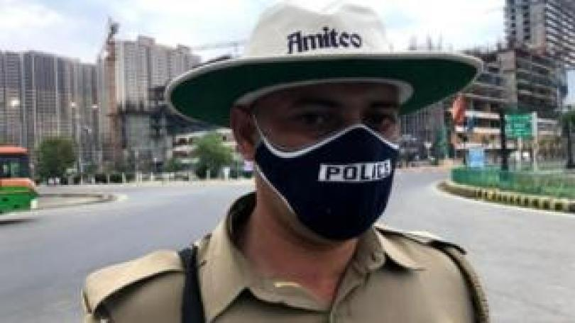 Vikran Rana wearing mask