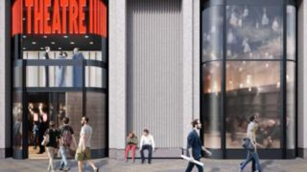 A CGI impression of how the front of the new theatre complex will look