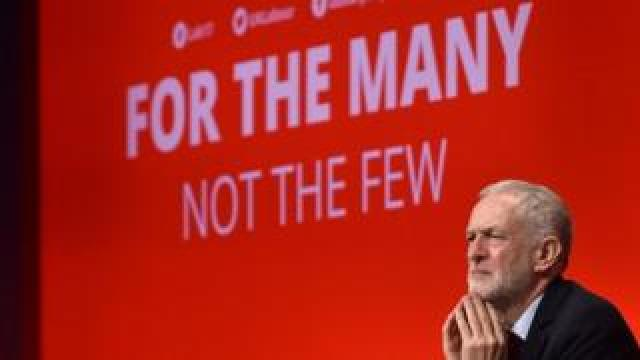 Jeremy Corbyn at Labour's 2019 party conference