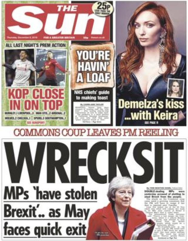 The Sun front page, 6/12/18