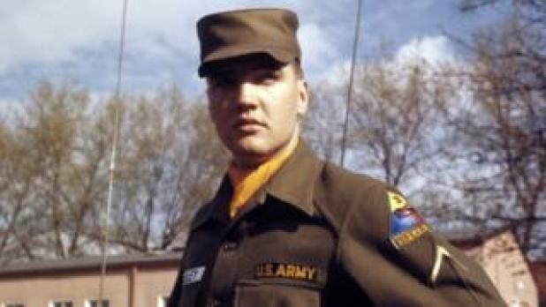 Security: US Army Private First Class Elvis Presley at Grafenwoehr Training Grounds, Bavaria in 1958