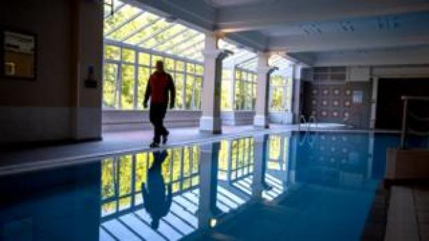 Will Whelan checks the Royal County hotel's pool four times a day
