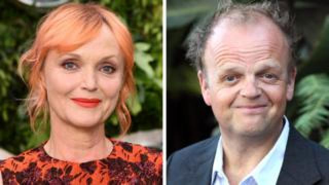 Miranda Richardson and Toby Jones