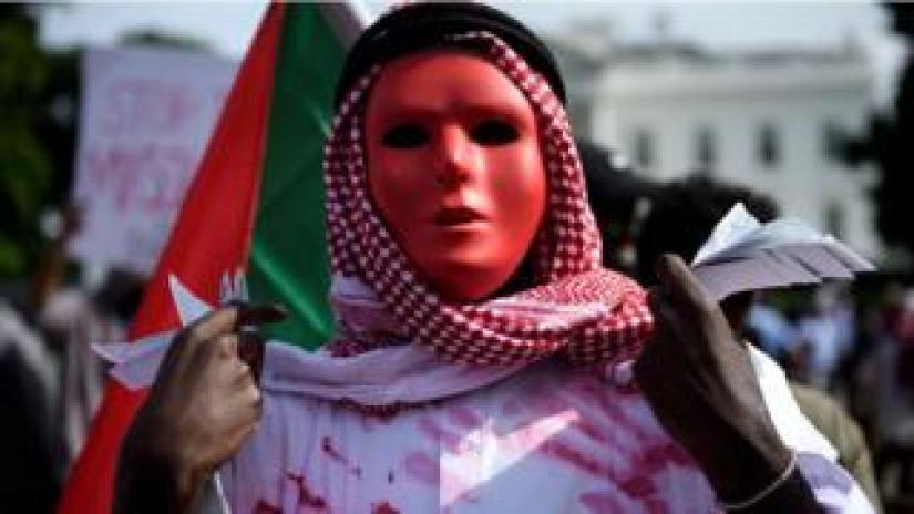 Sudan protesters in Washington DC