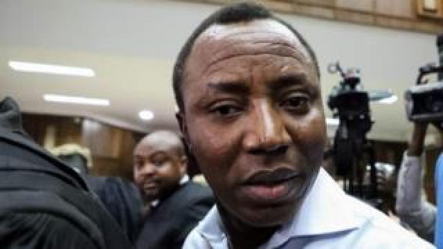 Omoyele Sowore arrives at a courtroom in September