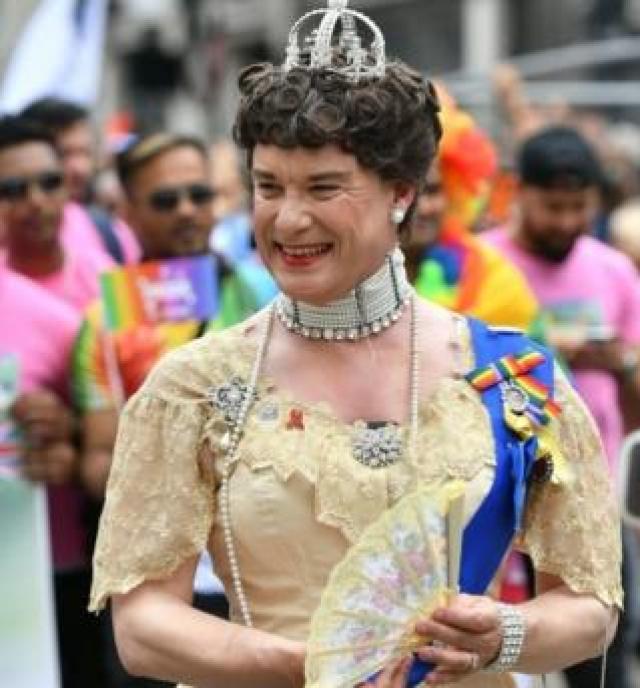 Reveller at Pride