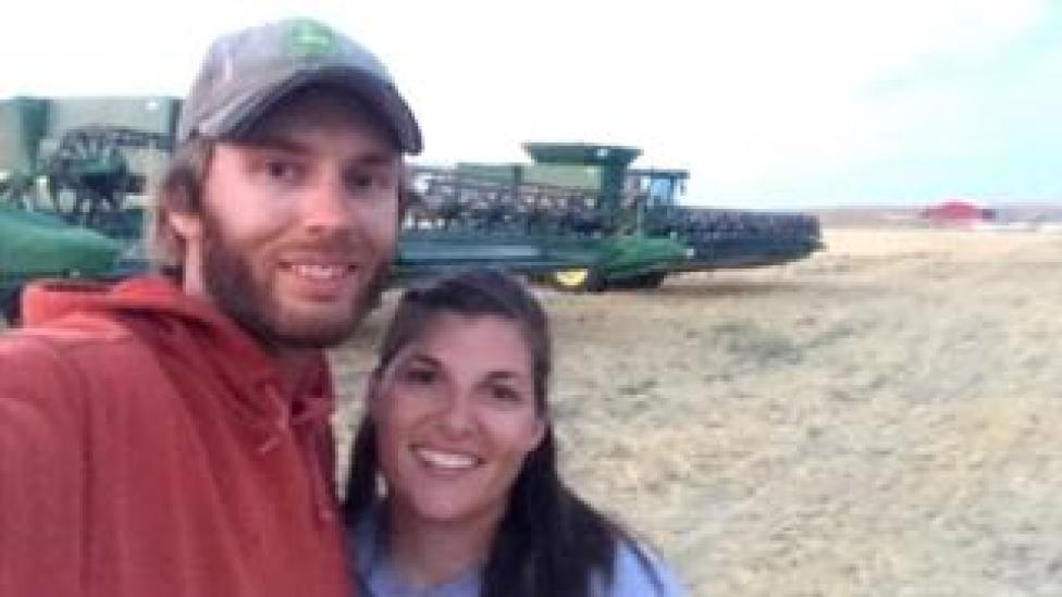 trump Derek Sande and his wife farm 10,000 acres in Montana