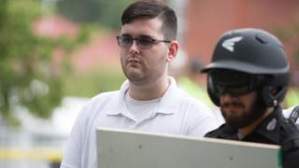 "Alex Fields Jr is seen attending the ""Unite the Right"" rally in Emancipation Park, Charlottesville, Virginia, August 12, 2017"