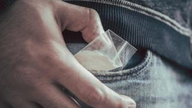 Cocaine in a man's pocket