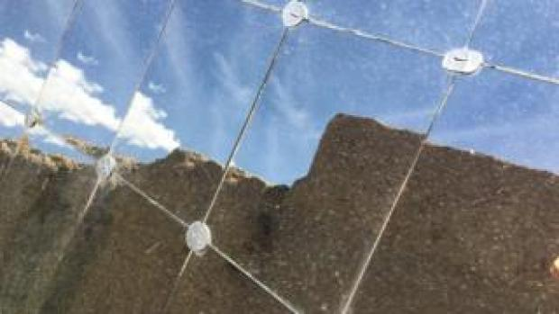 Mirrors used to harness the sun's intense heat