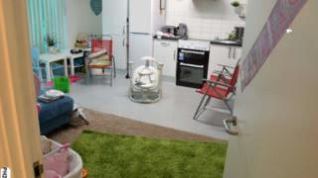 Inside the flat Butt shared with his wife and two children