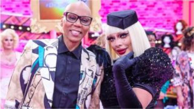RuPaul and Raven on RuPaul's Drag Race UK