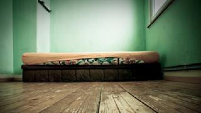 Mattress on bedroom floor